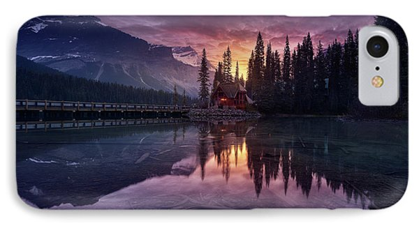 Lake House Sunrise IPhone Case