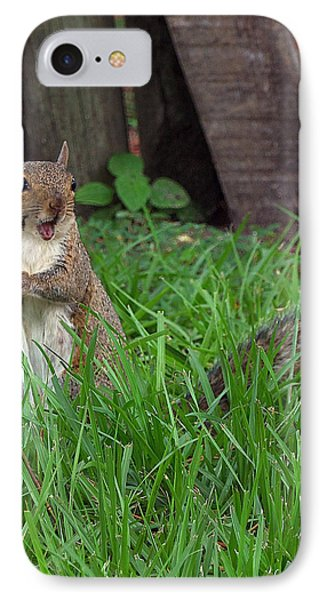 IPhone Case featuring the photograph Lake Howard Squirrel 000 by Chris Mercer