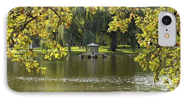 Lake In Boston Park IPhone Case by Alex King