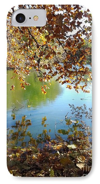 Lake In Early Fall IPhone Case by Susan Townsend