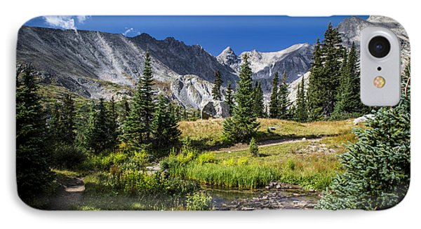 Lake Isbelle Mountains IPhone Case by Michael J Bauer