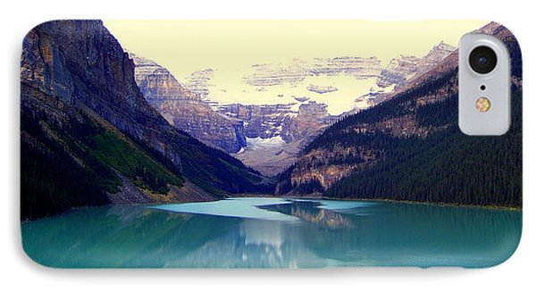 Lake Louise Stillness Phone Case by Karen Wiles
