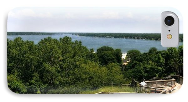Lake Macatawa From Mount Pisgah IPhone Case by Michelle Calkins