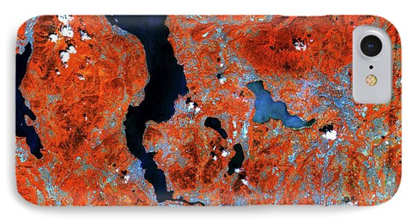 Lake Maggiore IPhone Case by European Space Agency/copernicus Sentinel Data (2015)