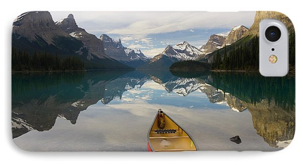 Lake Maligne, Near Jasper, Jasper IPhone Case by Peter Adams