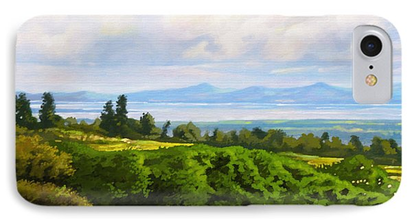 IPhone Case featuring the painting Lake Naivasha From Home by Anthony Mwangi