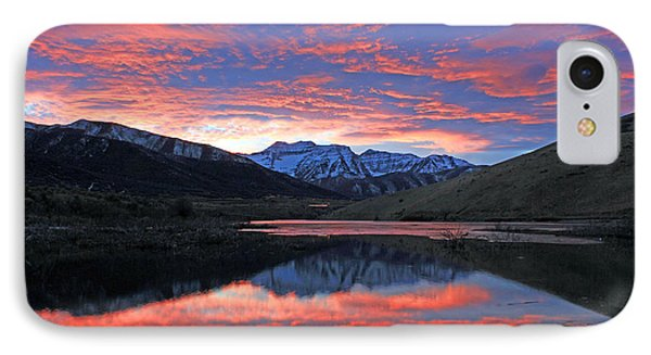 Lake Of Fire IPhone Case by Johnny Adolphson