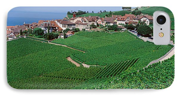 Lake Of Geneva, Vineyards, Rivaz IPhone Case by Panoramic Images