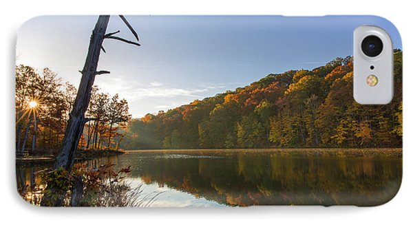 Lake Ogle In Autumn In Brown County IPhone Case by Chuck Haney