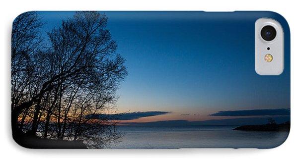 IPhone Case featuring the photograph Lake Ontario Blue Hour by Georgia Mizuleva