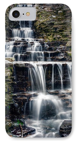 Lake Park Waterfall IPhone Case by Scott Norris