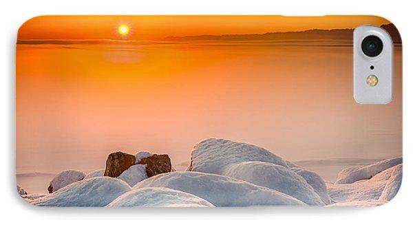 Lake Pepin Winter Sunrise Phone Case by Mark Goodman