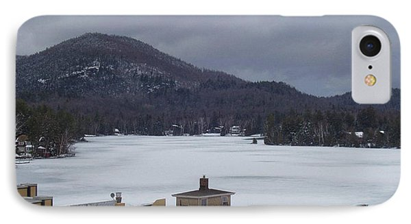 IPhone Case featuring the photograph Lake Placid Snow Storm by John Telfer