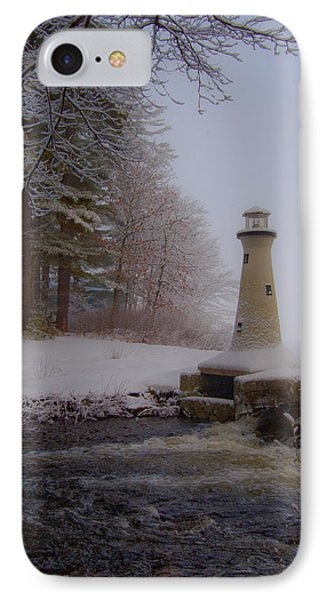 Lake Potanipo Lighthouse IPhone Case by Brenda Jacobs