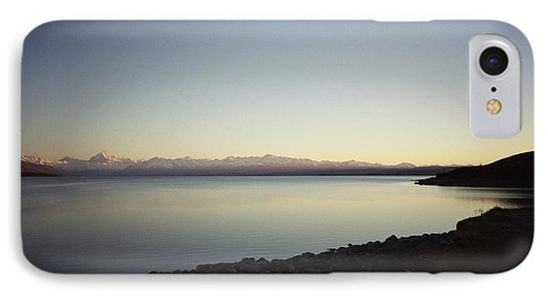 Lake Pukaki First Light IPhone Case by Peter Mooyman