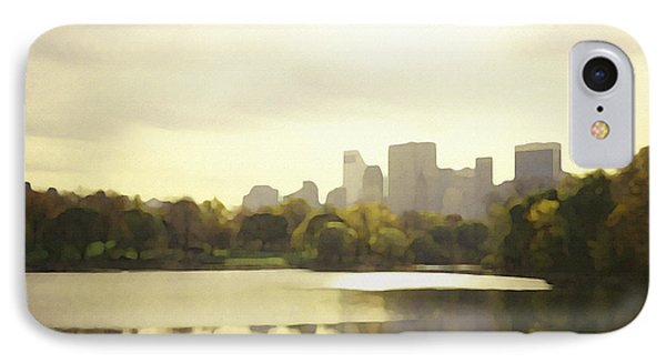 Lake Reflection Skyline 3 IPhone Case by David Klaboe