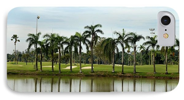 Lake Sand Traps Palm Trees And Golf Course Singapore IPhone Case by Imran Ahmed