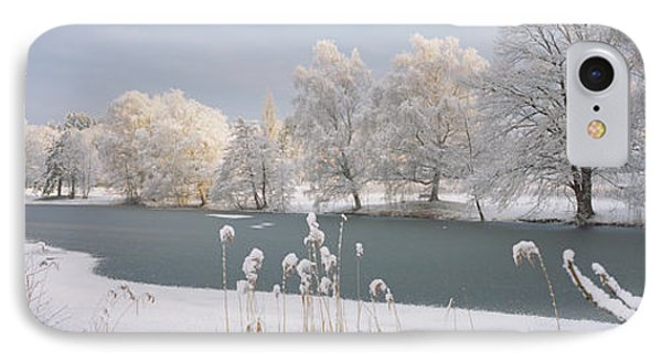 Lake Schubelweiher Kusnacht Switzerland IPhone Case