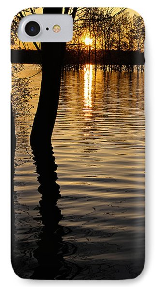 Lake Silhouettes IPhone Case by Julie Andel