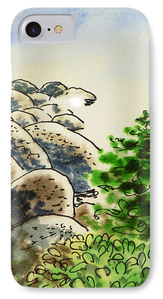 Lake Tahoe - California Sketchbook Project Phone Case by Irina Sztukowski