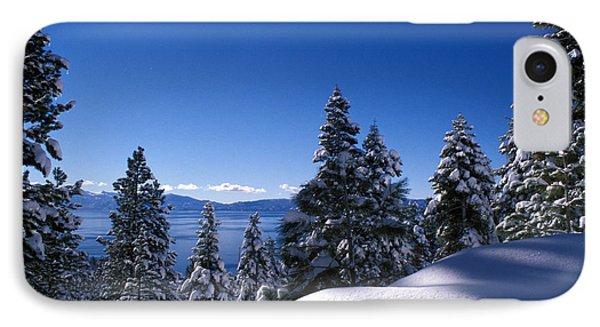 Lake Tahoe In Winter Phone Case by Kathy Yates