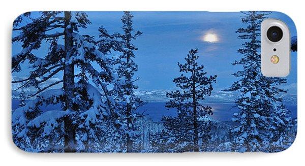 Lake Tahoe Moonset Phone Case by Bruce Friedman