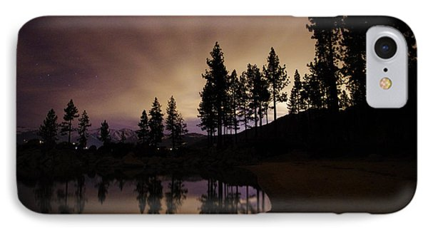 Lake Tahoe Sand Harbor Silhouette Phone Case by Scott McGuire