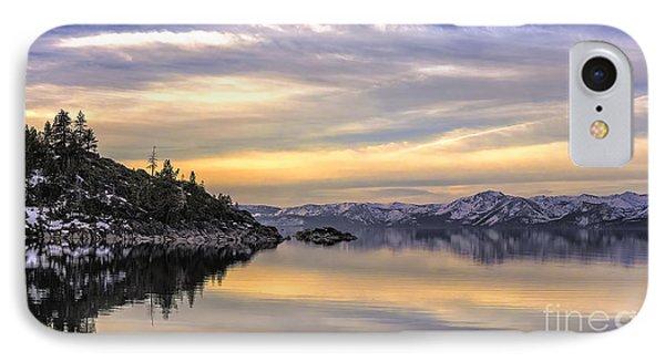 Lake Tahoe Sunrise IPhone Case by Nancy Marie Ricketts