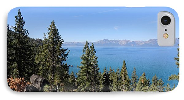 Lake Tahoe Through The Trees IPhone Case by Jayne Wilson