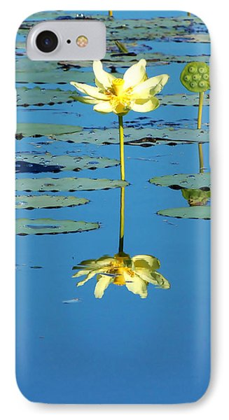 Lake Thomas Water Lily IPhone Case by Chris Mercer