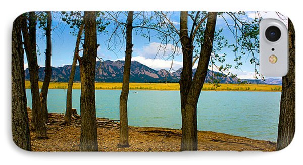 Lake Through The Trees IPhone Case by Juli Ellen