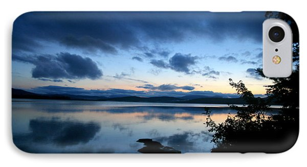 Lake Umbagog Sunset Blues No. 2 IPhone Case by Neal Eslinger