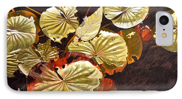Lake Washington Lily Pad 11 IPhone Case by Thu Nguyen