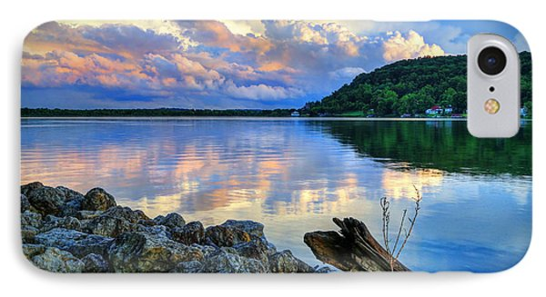 IPhone Case featuring the photograph Lake White Sundown by Jaki Miller