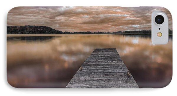 Lake White Twilight Phone Case by Jaki Miller