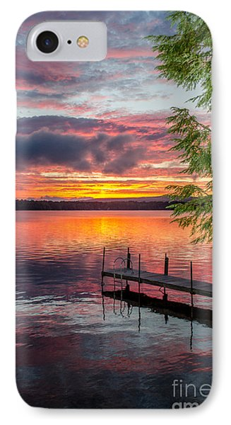 Lake Winnisquam Sunrise 2 IPhone Case by Mike Ste Marie