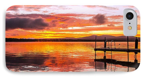 Lake Winnisquam Sunrise IPhone Case by Mike Ste Marie