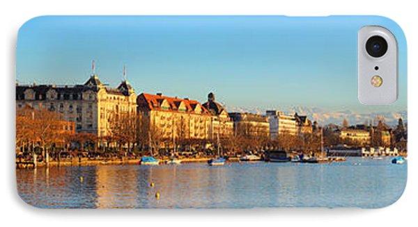 Lake Zurich Panorama IPhone Case by Marc Huebner