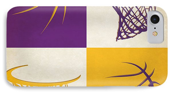 Lakers Ball And Hoop IPhone Case by Joe Hamilton