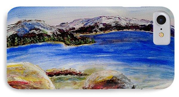 Lakeshore Boulders IPhone Case by Carol Duarte