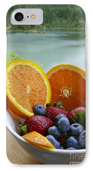 IPhone Case featuring the photograph Lakeside Fruit Bowl by Maria Janicki