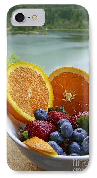 Lakeside Fruit Bowl IPhone Case by Maria Janicki