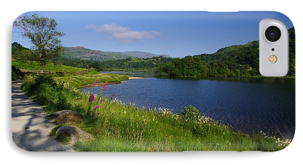 Lakeside Path To Grasmere IPhone Case by Graham Hawcroft pixsellpix