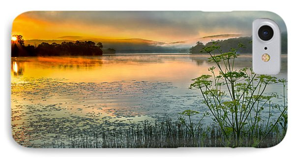 Lakeside Sunrise IPhone Case by Bill Wakeley