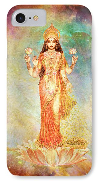 Lakshmi Floating In A Galaxy IPhone Case by Ananda Vdovic