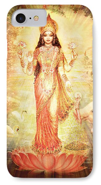 Lakshmi Goddess Of Fortune Vintage IPhone Case by Ananda Vdovic
