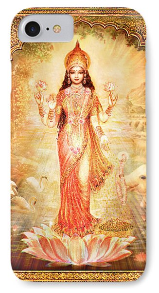 Lakshmi Goddess Of Fortune With Lighter Frame IPhone Case by Ananda Vdovic