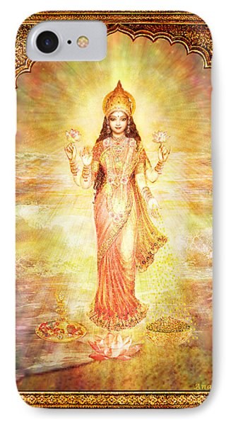 Lakshmi The Goddess Of Fortune And Abundance IPhone Case by Ananda Vdovic