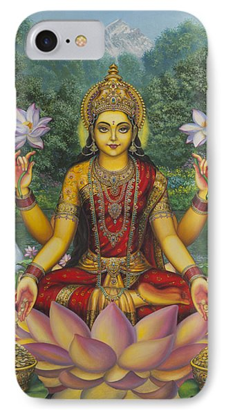 Lakshmi IPhone Case by Vrindavan Das