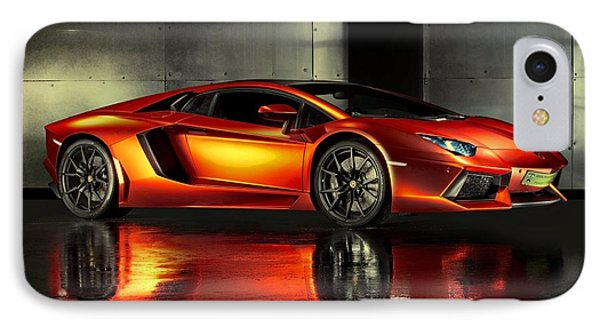 Lamborghini Aventador IPhone Case by Movie Poster Prints